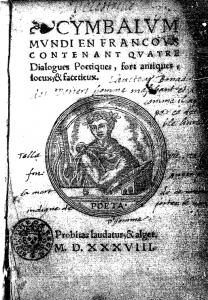 Cymbalum mundi, Lyon, Benoist Bonnyn, 1538