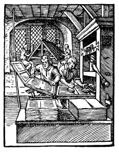 Printer in 1568 ce